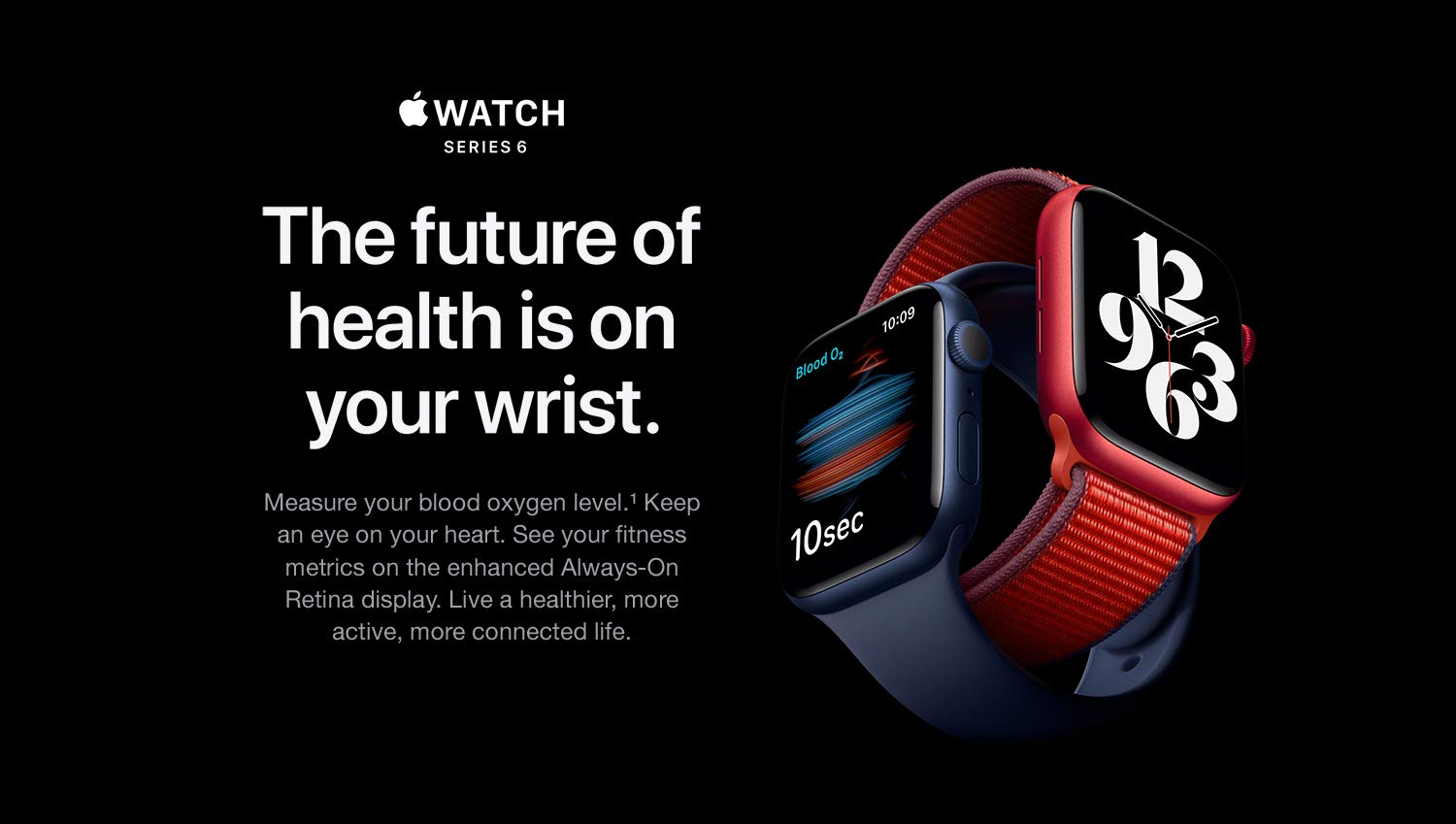 Watch Series 6. The future of health is on your wrist.
