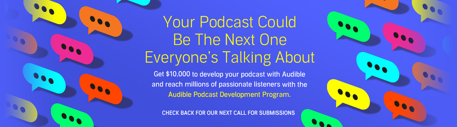 Develop your podcast with Audible