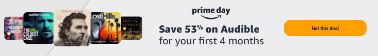 Save 53% on your first 4 months of Audible Premium Plus