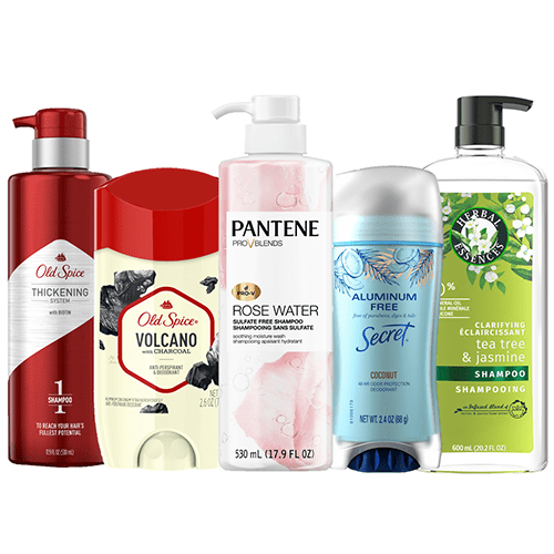 Up to 25% off on Hair and Personal Care, Pantene, Old Spice and Secret and more