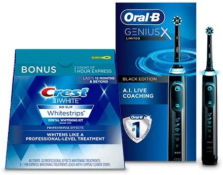 Up to 47% off whitening kits and oral care from Oral B and Crest