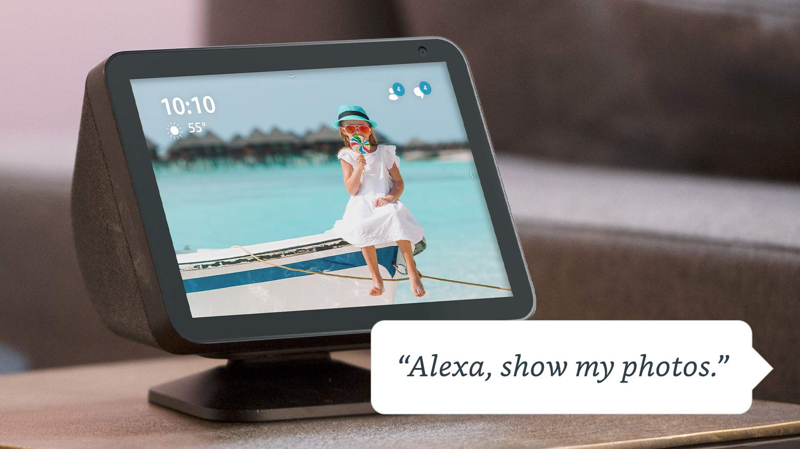 Your photo memories, showcased on your Echo Show device