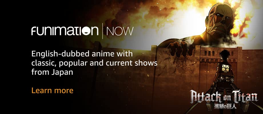 English-dubbed anime with classic, popular and current shows from Japan