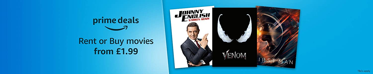 Prime Deals – Movies to rent for £1.99. Prime members only.