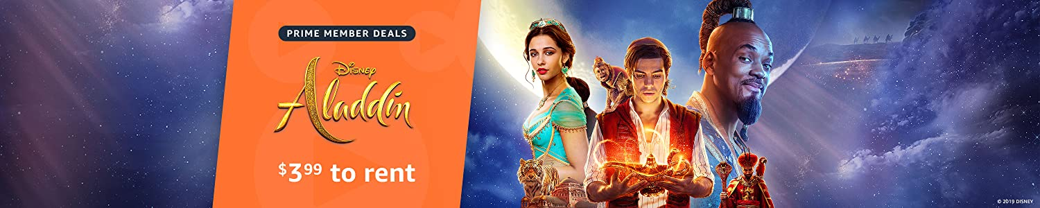 Prime members can rent Aladdin for $3.99