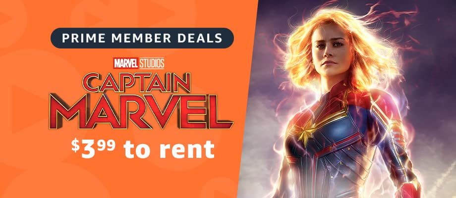 Prime Members can rent Captain Marvel for $3.99