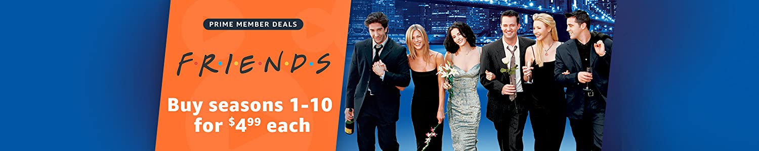 Prime members can buy seasons of Friends for $4.99