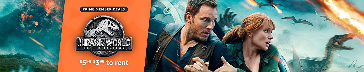 Prime Members can rent Jurassic World Fallen Kingdom available for $3.99