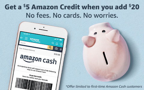 Get a $5 Amazon Credit when you add $20