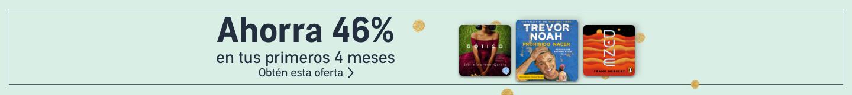 Ahorra 46% en tus primeros 4 meses de Audible Premium Plus.