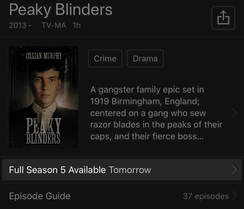 TV Show availability