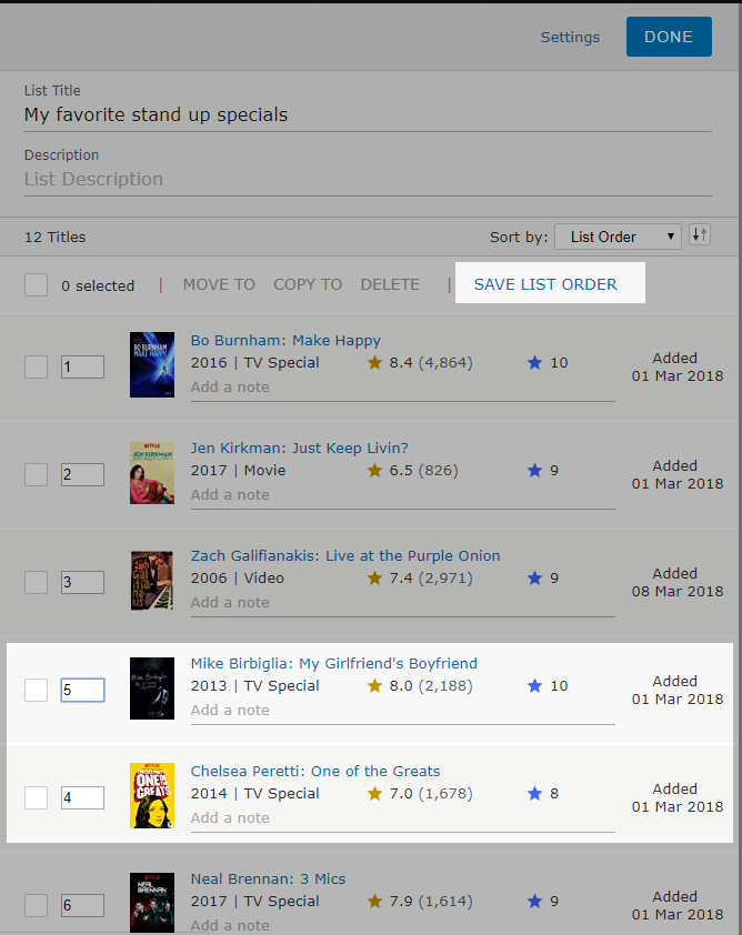 how to write a review on imdb app