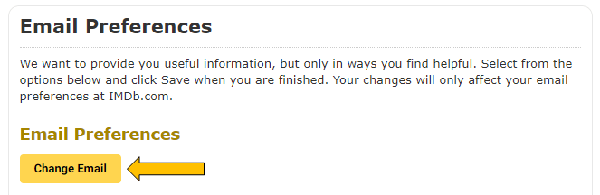 Change email option