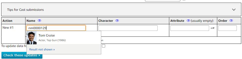 Using the nconst unique identifier