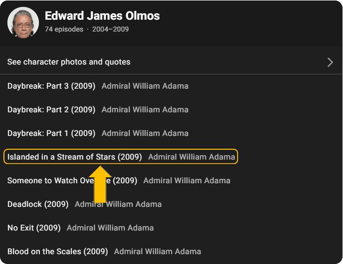 Episode list for Edward James Olmos
