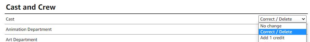 Correct / Delete credit example