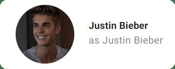 Justin Bieber scripted credit