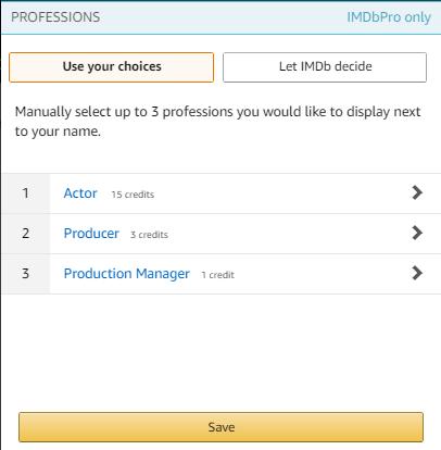 Professional summary selection