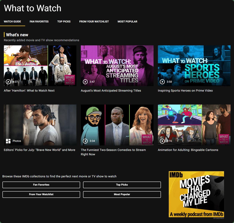 What to Watch screenshot