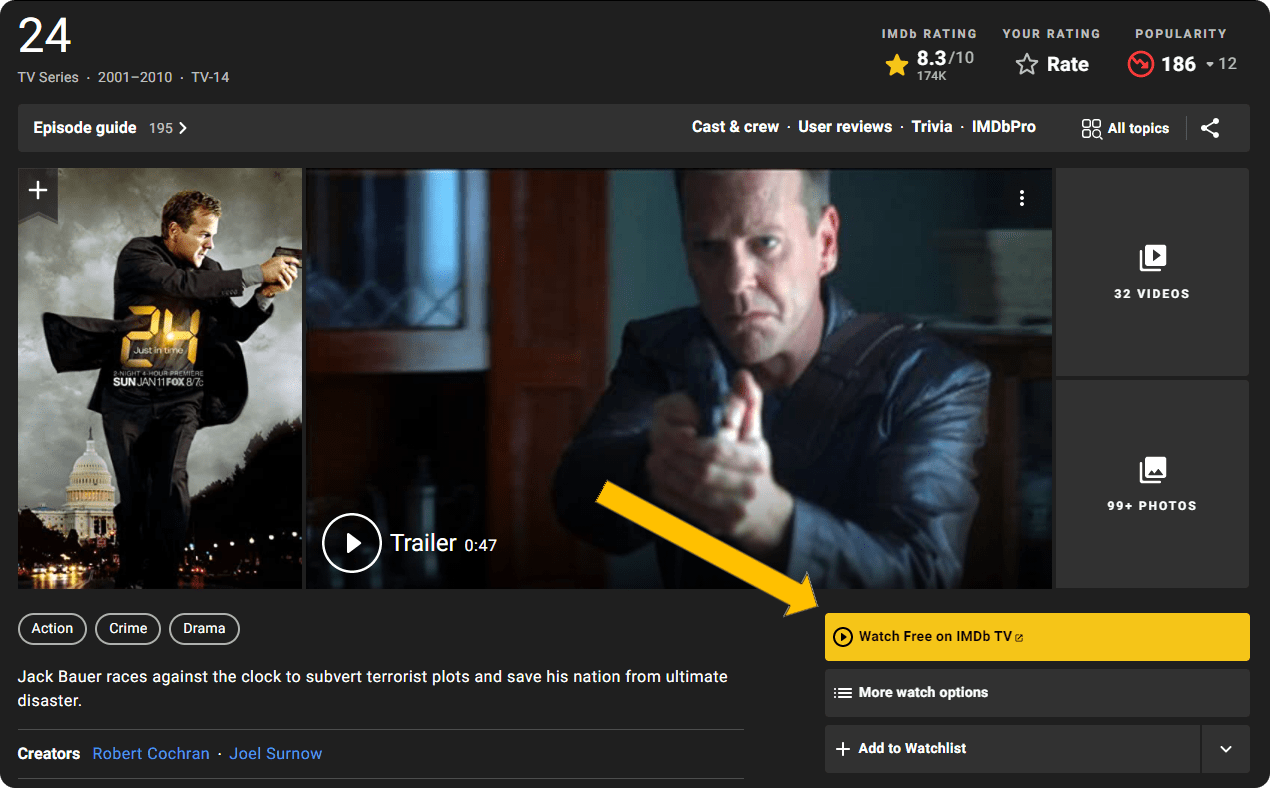 IMDb page for 24