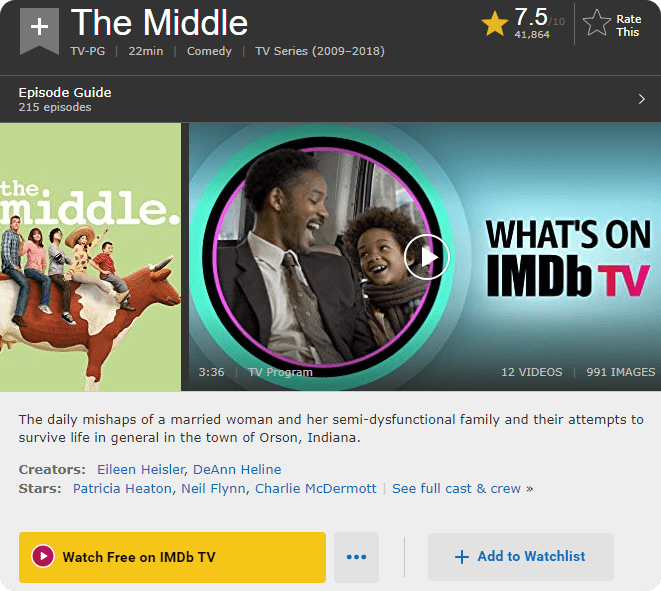 IMDb page for The Middle