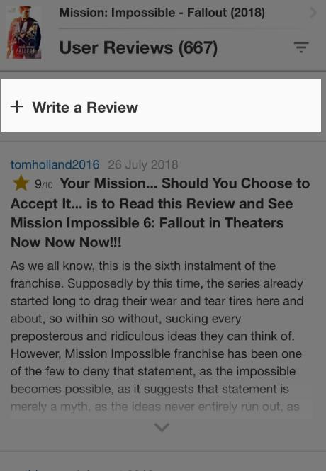 imdb user reviews
