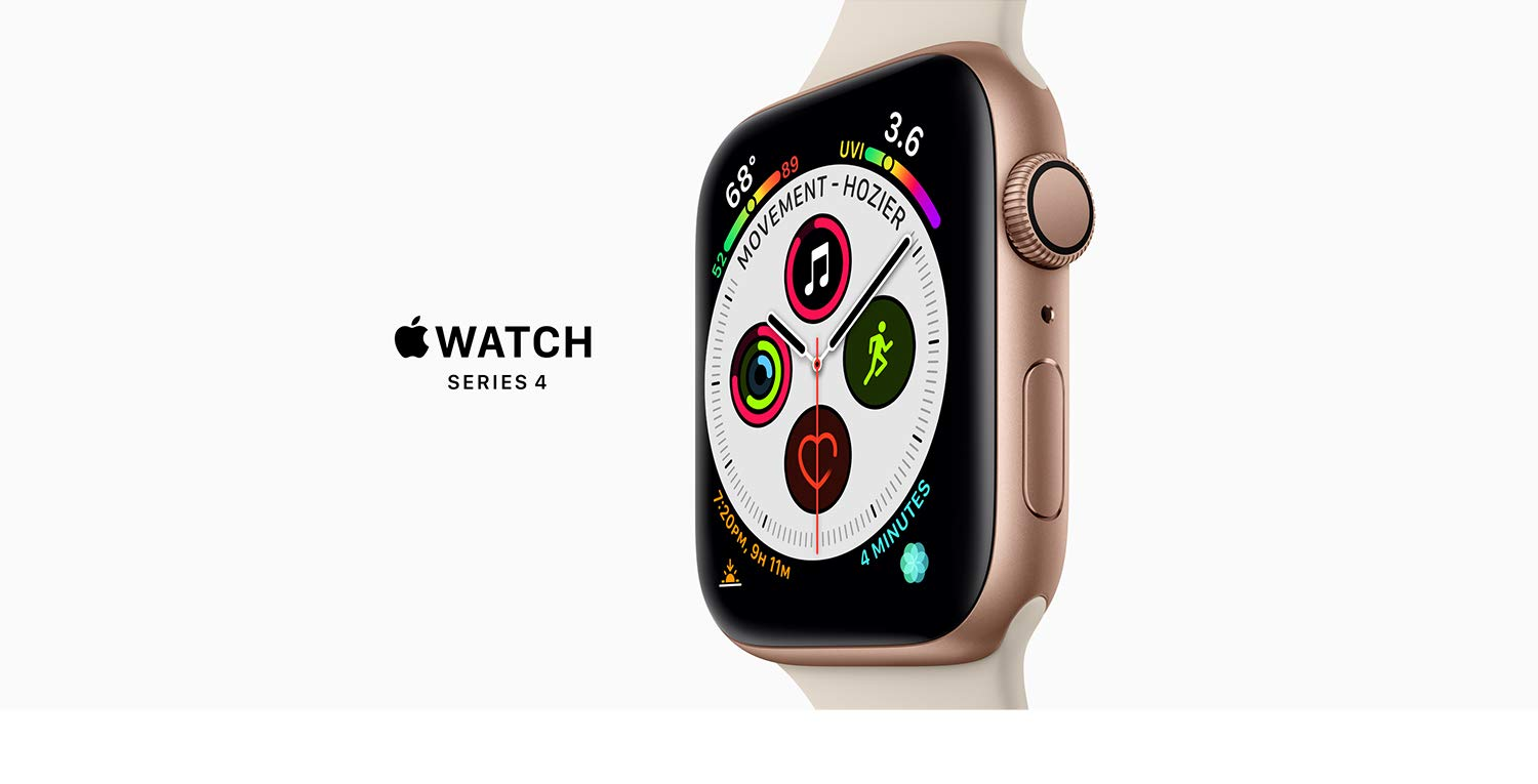 Amazon.com: Apple Watch Series 4 (GPS, 40mm) - Space Gray Aluminum Case  with Black Sport Band