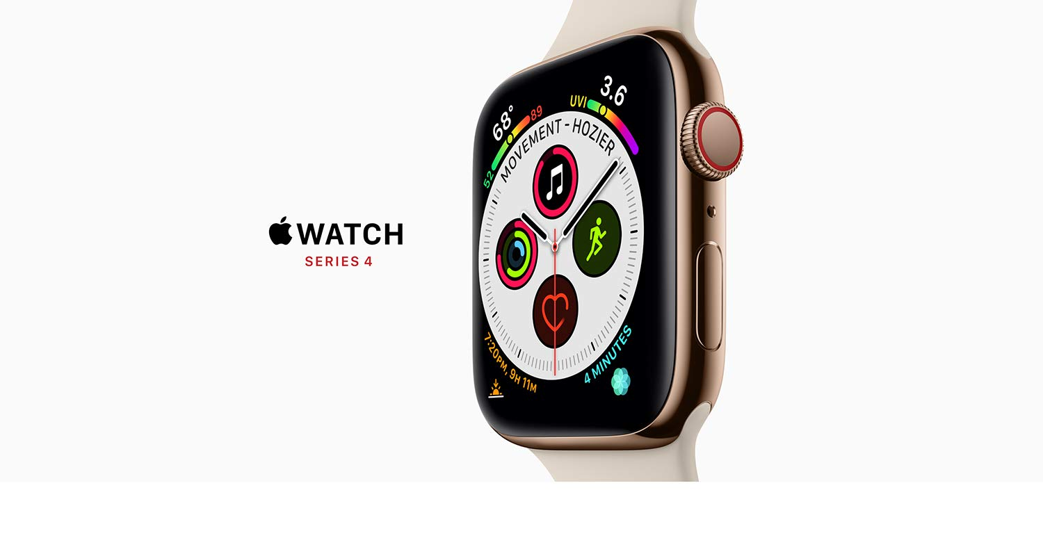 Amazon Com Apple Watch Series 4 Gps Cellular 44mm Space Gray Aluminum Case With Black Sport Band
