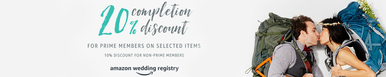 20% completion discount for Prime members on selected items. 10% discount for non-Prime members.