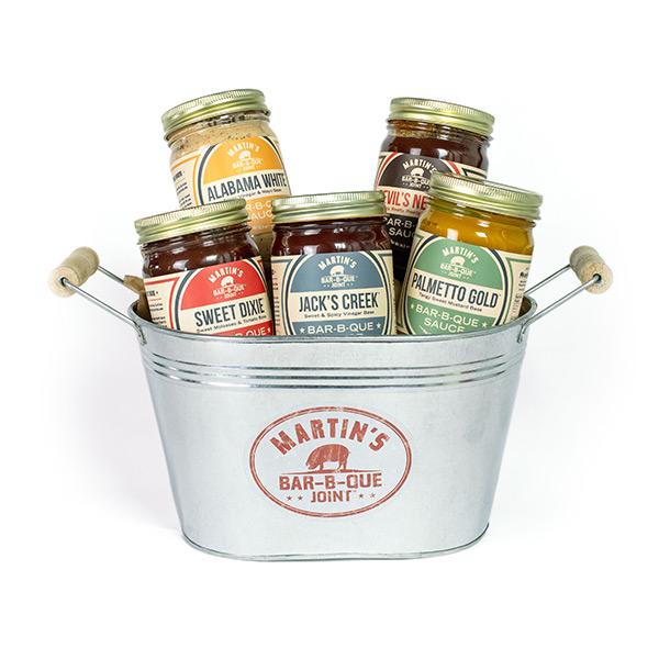 Bar-B-Que Sauce Bucket by Martin's Bar-B-Que Joint