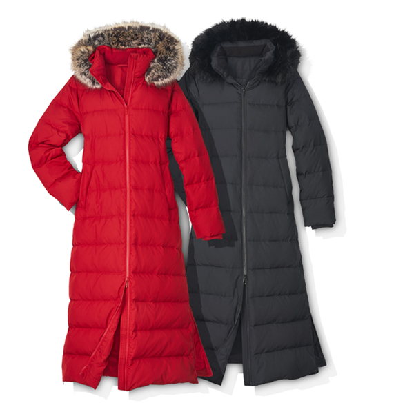 Faux Fur Hooded Down Coat by Lands' End
