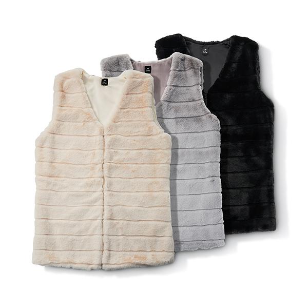 Faux Fur Vests by Echo