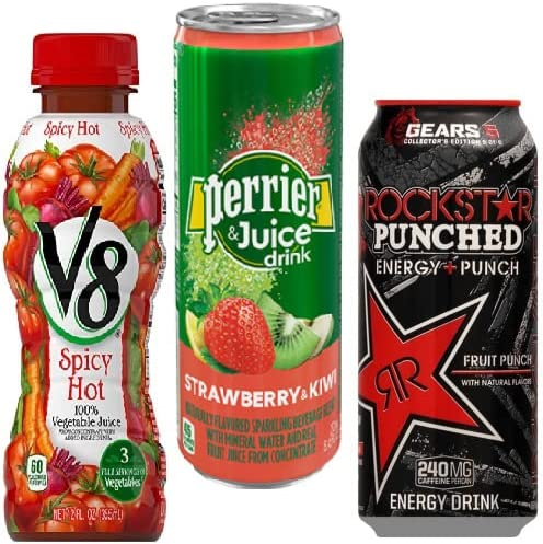 up to 30% off beverages from Perrier, Rockstar, V8, and more