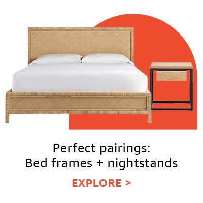Perfect pairings: bed frames + nightstands