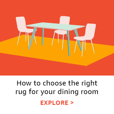 How to choose the right rug for your dining room