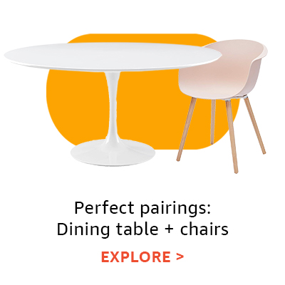 Perfect pairings: dining tables + chairs