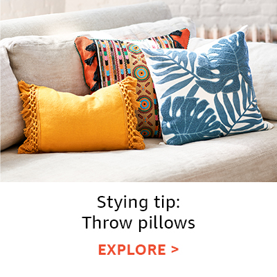Styling tip: throw pillows