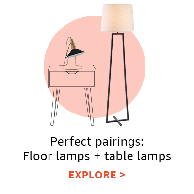 Perfect pairings: floor lamps + table lamps