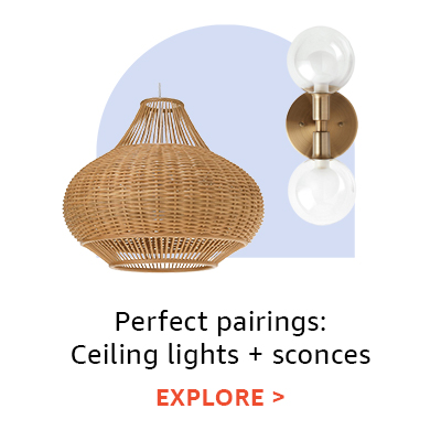 Perfect pairings: ceiling lights + sconces