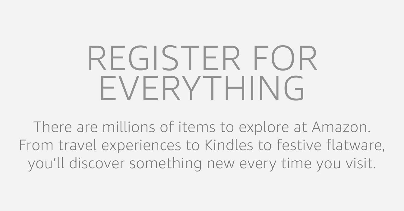 Register for everything