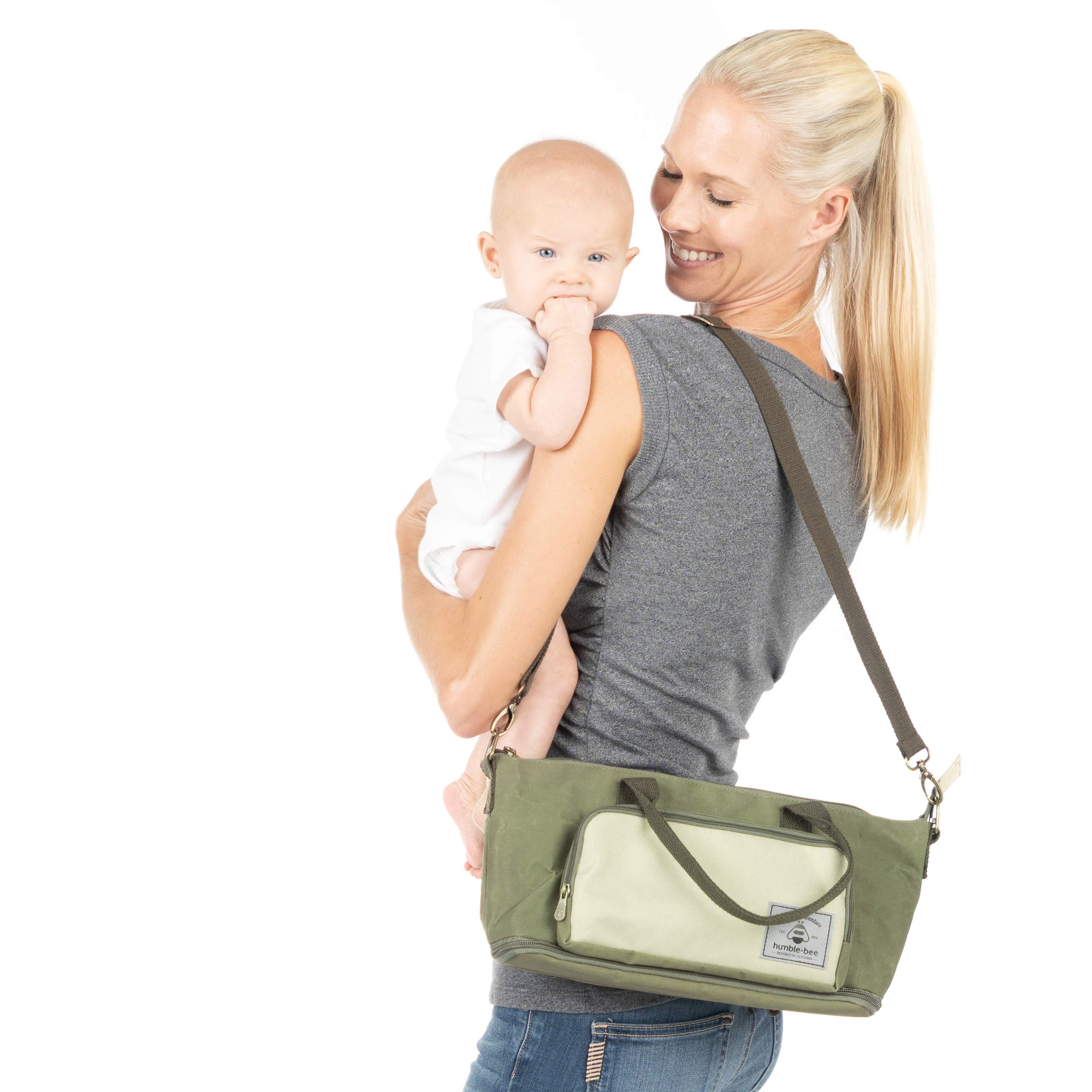 Humble-Bee Mini Charm Casual Style Expandable Stroller Organizer Purse
