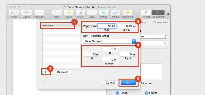 Create a custom paper size that accounts for bleed