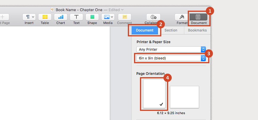 Make sure that your custom paper size is selected, and choose a page orientation
