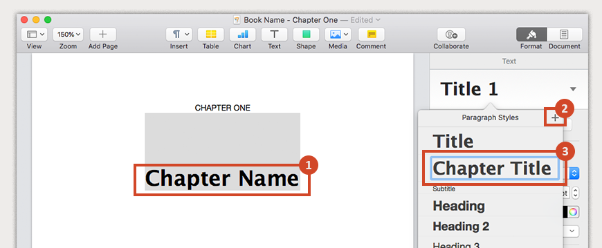 Create a style for chapter titles