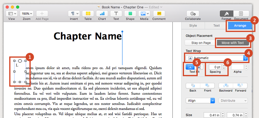 Add a drop cap to the first word in a chapter