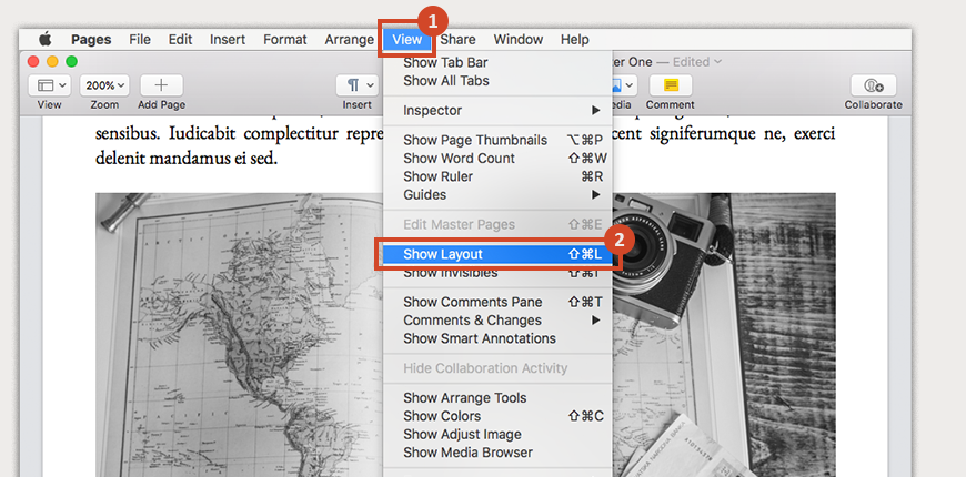 Use Show Layout to turn on gridlines and ensure that your image is inside the margins