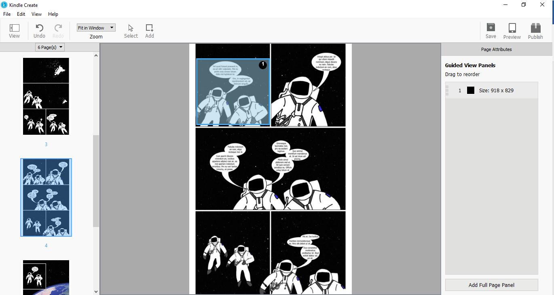 Prepare Comic eBooks with Kindle Create | Amazon Kindle Direct