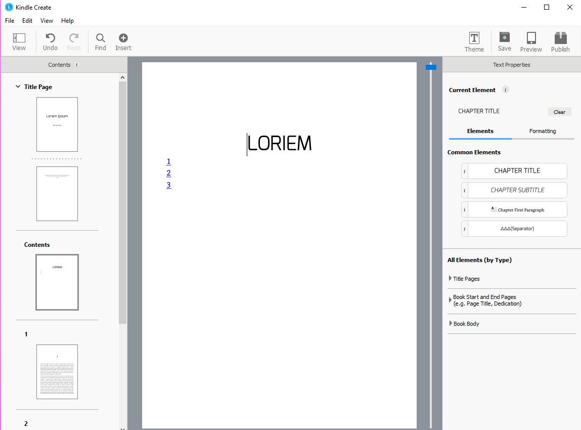 Utilizar Kindle Create para crear un eBook con una gran cantidad de ...