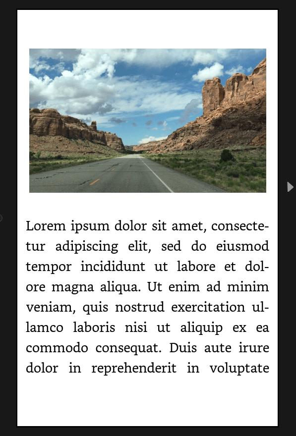 Ejemplo de imagen en bloque