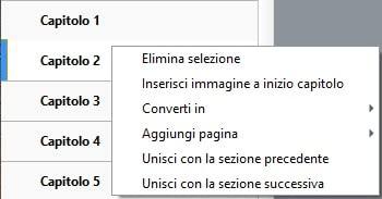 Funzione di unione dei capitoli in Kindle Create